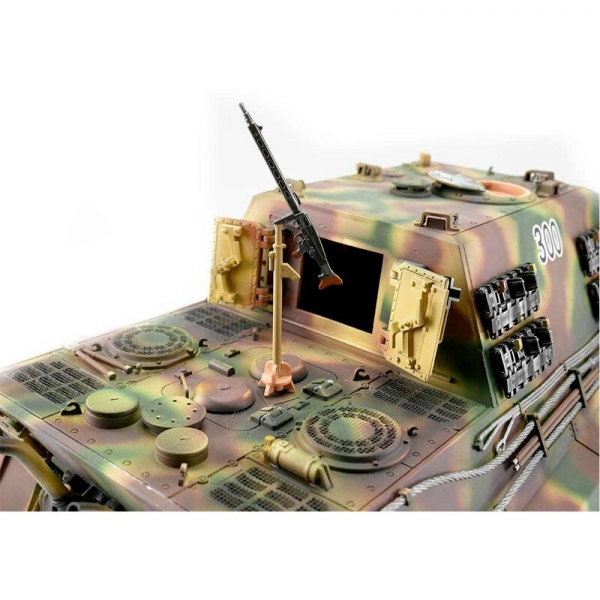 "1/16 RC Jagdtiger (""Hunting Tiger"") Metal Edition in Wooden Ammunition Box BB Summer Camo"