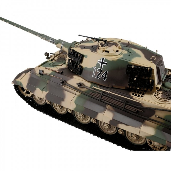 1/16 RC King Tiger with Henschel Turret and Metal Tracks - BB+IR - Heng Long Torro Edition