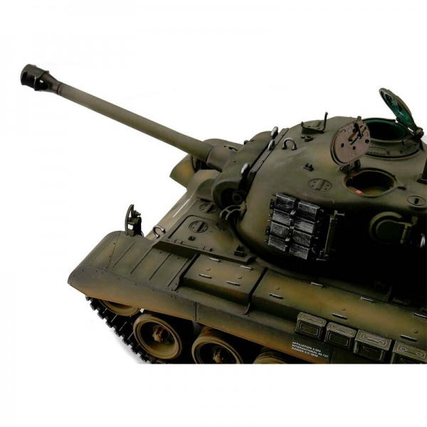 Taigen 2.4 GHz Version M26 Pershing Snow Leopard - Airbrush, Metal Tracks