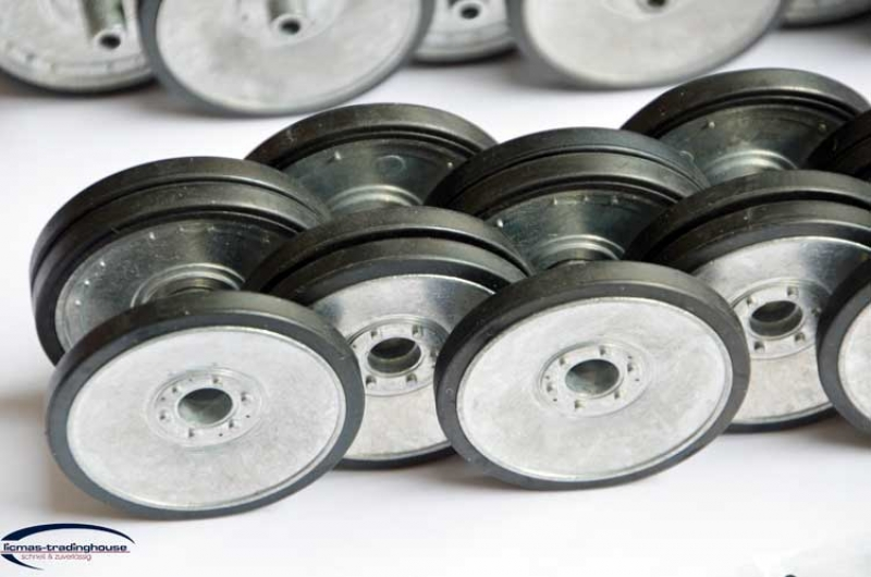 Metal wheels for Tiger 1 early version with rubber covers 1/16
