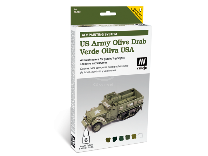 78402 Vallejo Farben Model Air Acrylfarben US Army Olive Drab