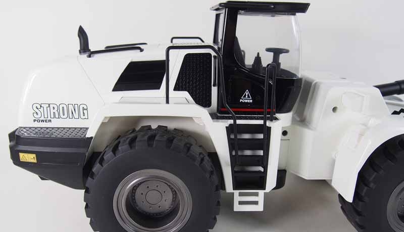 RC wheel loader G483E white 1:14 partial metal RTR sound and light 10-channel 2.4 GHz