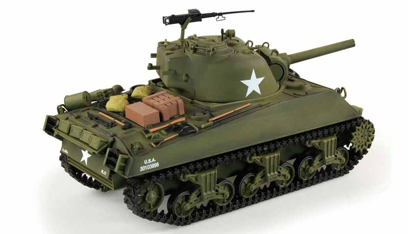 RC Panzer U.S. M4A3 Sherman Heng Long 1:16 Advanced Line IR/BB
