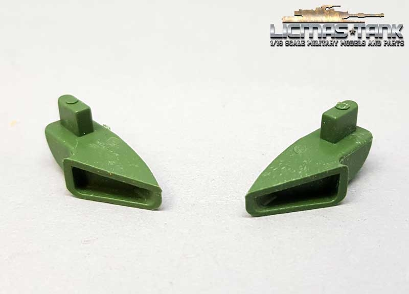 pair of exhaust tips KV-1 Heng Long plastic unpainted 1/16