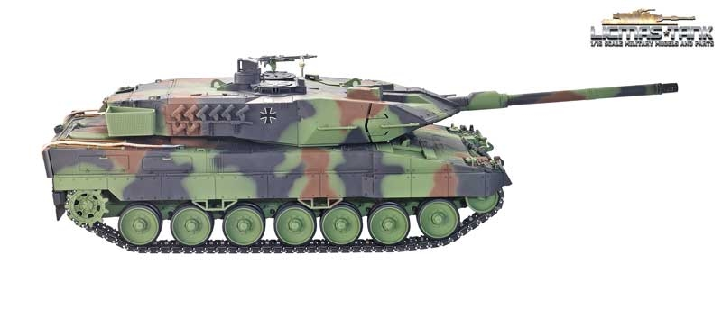 MG und 360 Grad Drehkranz Taigen Panzer 4 Oberwanne mit Metall Teilen Luken