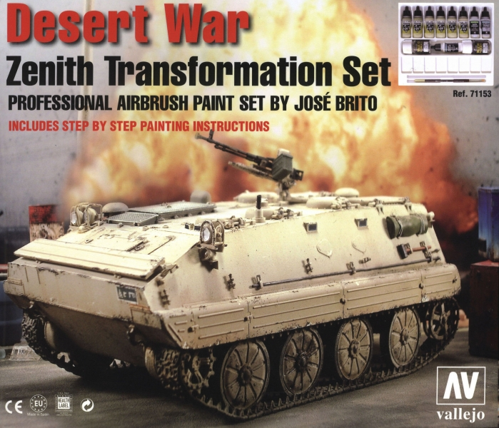Model Air 71153 Desert War Zenith Transformation Airbrush Farben Set