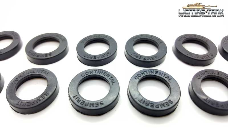 Panzer 3 Replacement rubbers tyres for the Taigen metal support rollers and casters Taigen