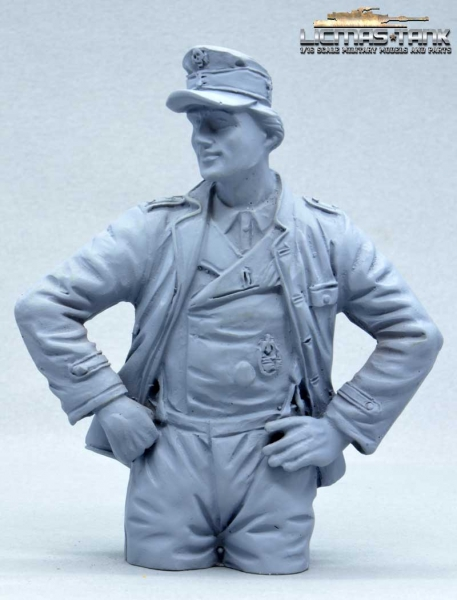 German Tank Crew Loader Normandy 1944 Half Body Figure not painted
