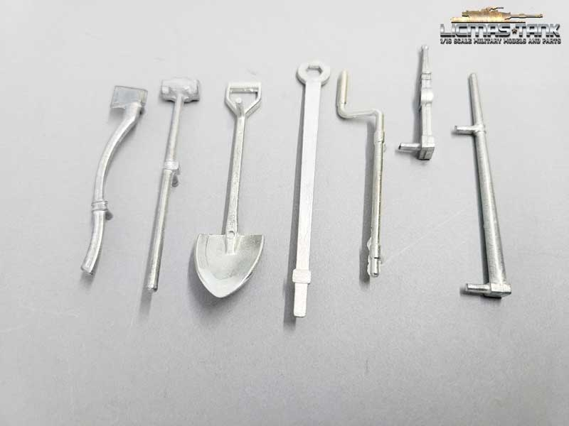 1/16 Sherman metal tool set