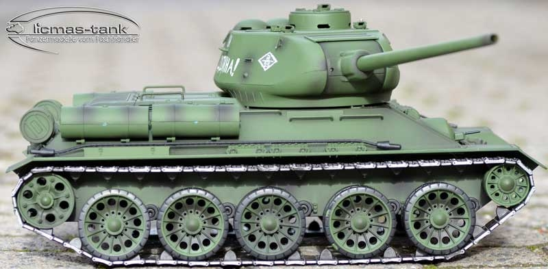RC tank Russian T-34/85 Heng Long scale 1/16 steel gear 2.4Ghz V7.0