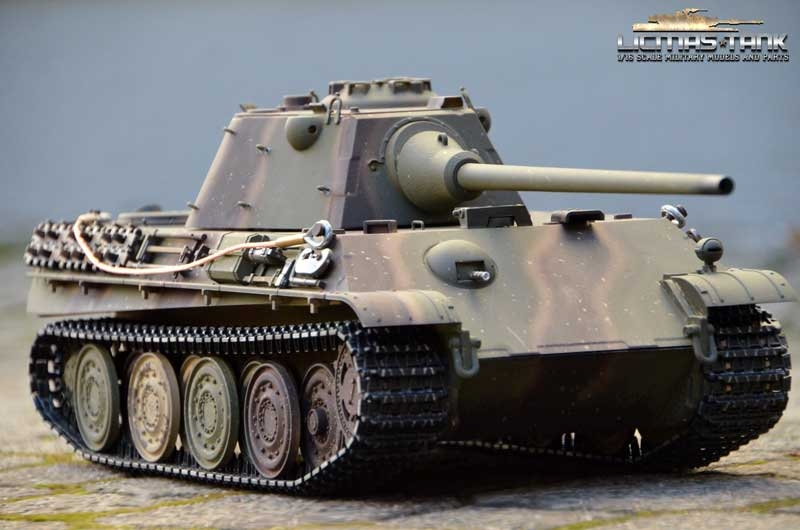 RC Tank 2.4 GHZ Panther Version F Taigen Profi Metal Edition BB 1:16