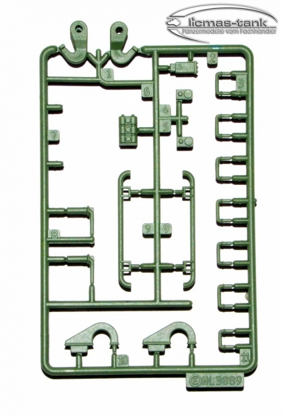 Leopard 2 A6 Plastic Accessories Set E 3889 green Heng Long 1:16