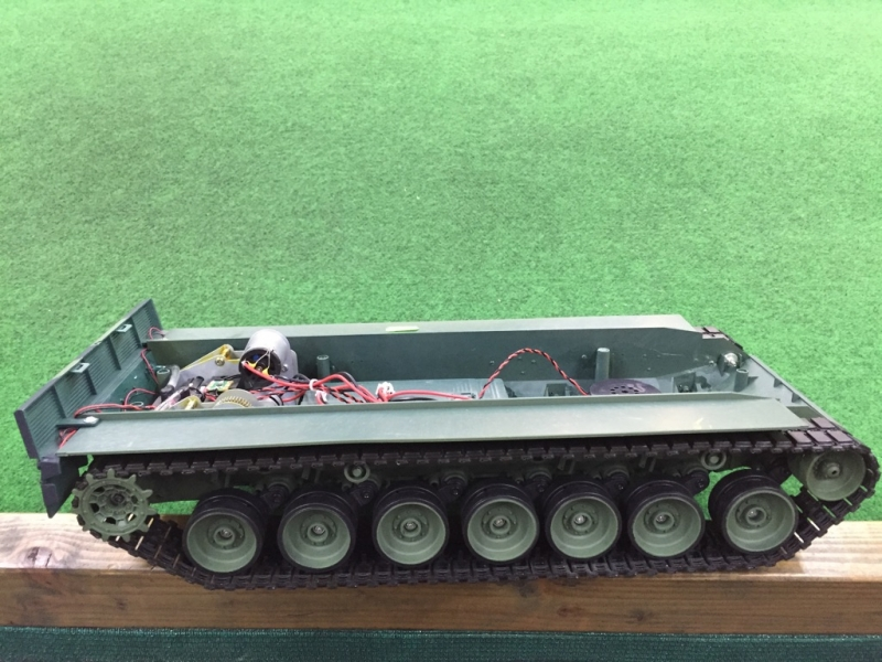 Leopard 2 A6 plastic chassis with metal gear set and plastic tracks
