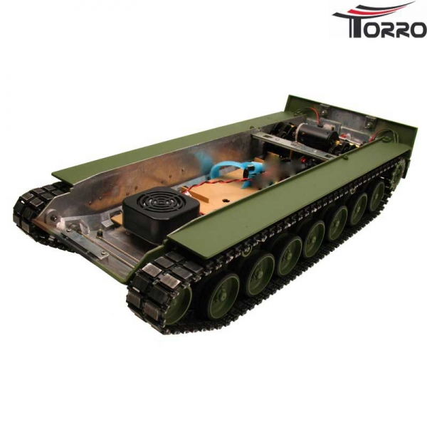 Painted Leopard 2A6 metal chassis with steel gears - NO BOARD