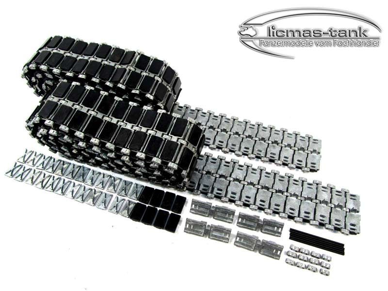 RC Tank Leopard 2 A6 Matotoys metal track set with rubber track pads 1:16