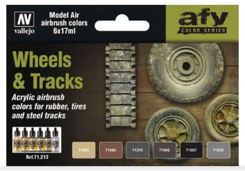 Model Air 6-er Farben Set Wheels & Tracks