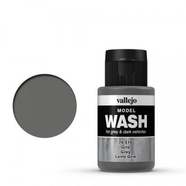 1 phial (35 ml) Vallejo 76516 Model WASH Grey