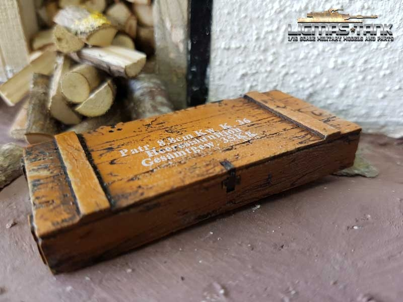 Ammo box 8.8cm Kw. K.36 loam brown scale of 1:16