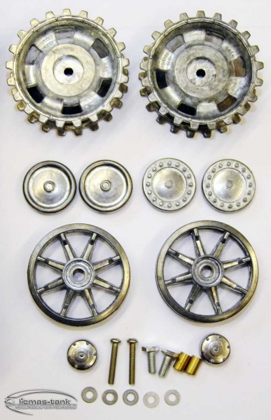 Taigen Metal Track Set with sprocket and idler wheels for panzer 3 heng long or taigen