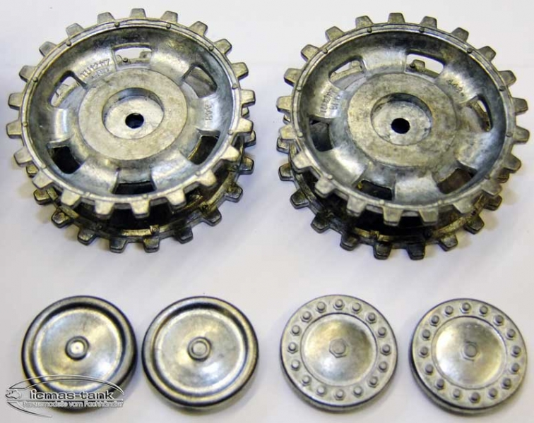 Metal Sprocket and idler wheels for Panzer III