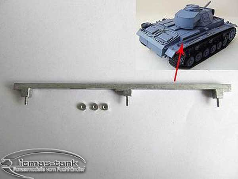 Panzer 3 metal rod for upper hull 1:16 MT 096