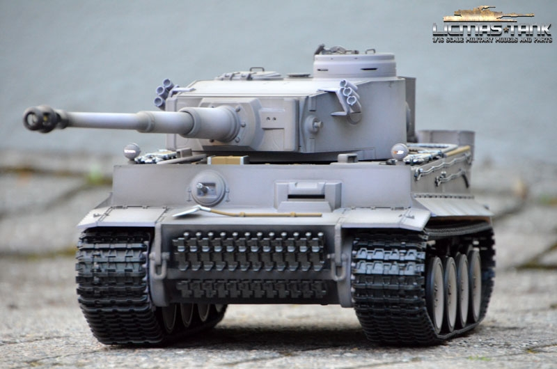RC Panzer 2.4 GHz Taigen Tiger 1 Airbrush Grau BB Version 1:16 Licmas-Tank