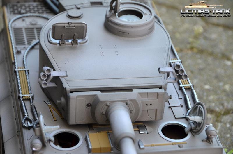 Rc Tank 24 Ghz Taigen Tiger 1 Metal Edition Airbrush Grey Bb Recoil
