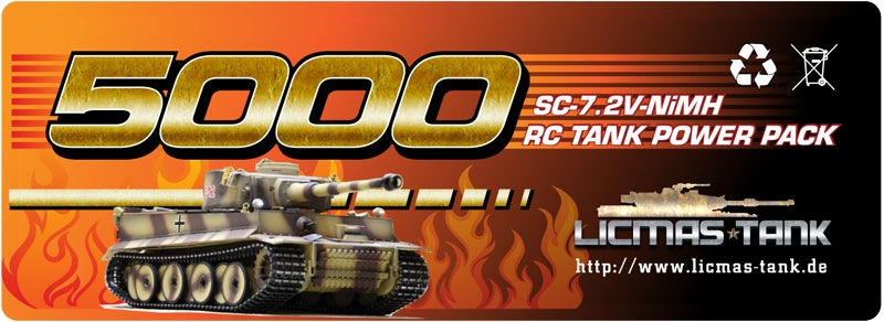rc tank battery pack 5000 nimh