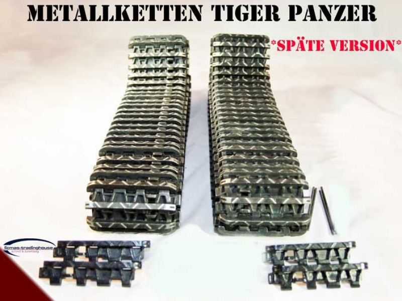 Metall Ketten SPÄTE Version Panzer Tiger I Heng Long oder Taigen