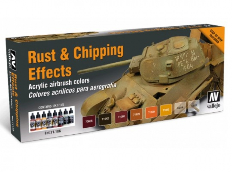 Vallejo Set Rust & Chipping Effects 71186  Model Air
