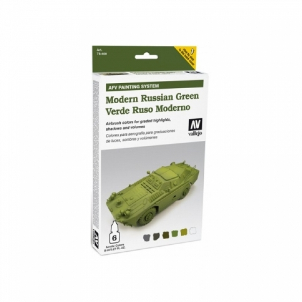 Model Air: Model Air Set AFV Russian Green Set (6)