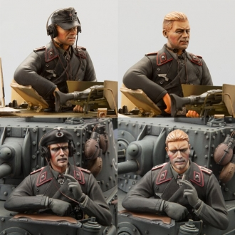 German Tank Crew Set Model Kit (SOL Model) Scale 1/16