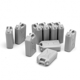 Accessories Bundeswehr Jerry Cans Set (10 pcs.) Model Kit (SOL Model) Scale 1/16