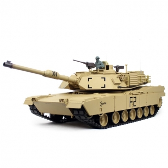 Customer returns 1/16 RC Tank M1A2 Abrams BB + IR Desert Paint Henglong V6.0 Torro-Edition