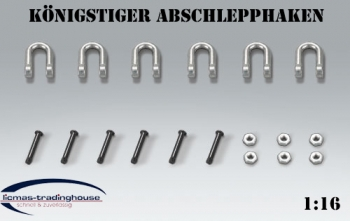 Tow hook metal set for TORRO KÖNIGSTIGER / TIGER II. or Jagdtiger