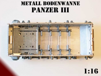 Metal lower hull for Panzer III Heng Long Panzer 3