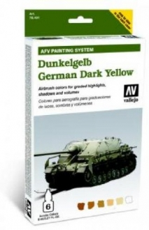 78401  Vallejo Model Air Acrylfarben German Dark Yellow Deutsches Dunkelgelb