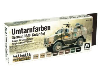 "Airbrush Tank Color Set ""Umtarnfarben-Set"" Vallejo 71159"