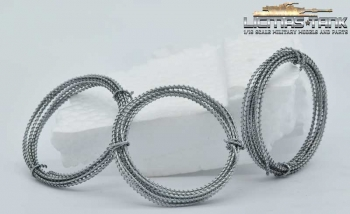 three roll of barbed wire 3 x 100 cm galvanized metal