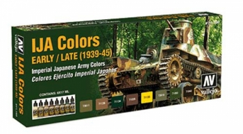 IJA Camouflage Colors-Set 8 x 17 ml - Vallejo Model Air 71160