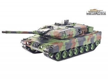 RC tank Taigen Leopard 2A6 BB 1:16 Metal Edition PRO Flecktarn Bundeswehr POWER OFFER!!!!!