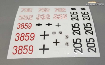 Panzer 4 Decal Set 3859-B Taigen 1:16
