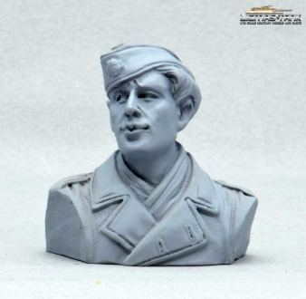 German Tank Crew Driver Normandy 1944 Half Body Figure UNPAINTED 1:16