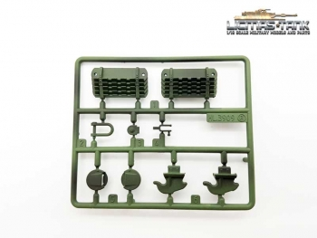 Heng Long Russia T34/85 Plasticset B Parts 1-6 painted