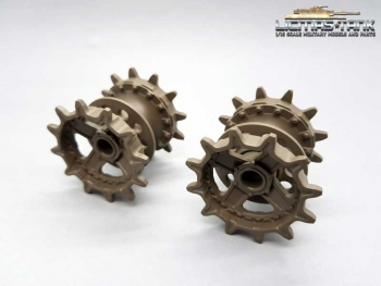 Original Heng Long Plastic Sprocket Wheels for Russia T90 Rc Tank 3938