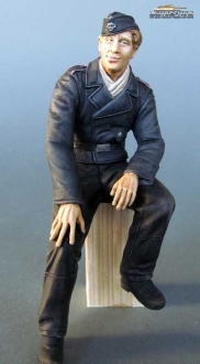 1/16 Figure German Tank Crew Driver WW2 Normandy 1944