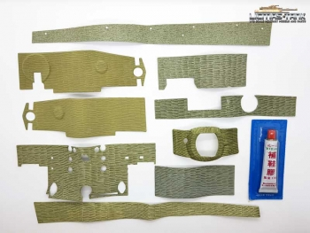 Zimmerit Set for Tiger 1 middle and late Version Scale 1:16