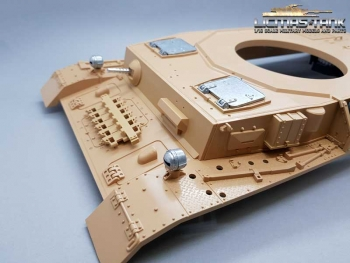 Taigen Panzer 4 upper Hull with metal parts and 360 degrees ring