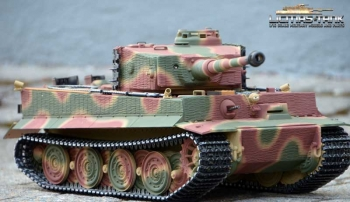 RC Tank 2.4 GHz Tiger 1 Later Version Normandy 1944-Taigen V3 Metal-Edition 360°- 6mm Shooting Version