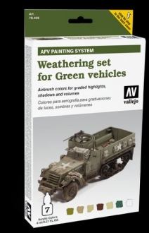 Model Air: Model Air Set AFV Weathering Set (6) for Green Vehicles